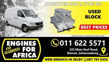 Used Mercedes Sprinter 416 2.7Tdi 95- Bare Block FOR SALE