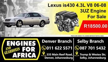 Used Lexus Is430 4.3L V8 3Uz 06-08 Engine For Sale