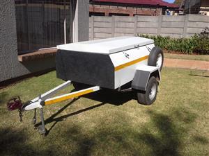 Campcraft Trailer.  1976 body rebuild in 1982. White  10 inch wheel.  Good condition