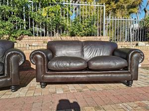 Lovely Set of Coricraft leather couches 2 x 2 Seaters.