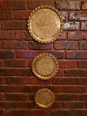 Beautiful high quality brass wall art x 3