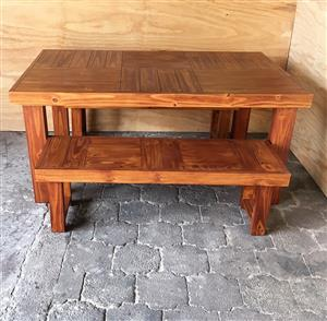 Patio table Farmhouse series 1650 Combo - Stained