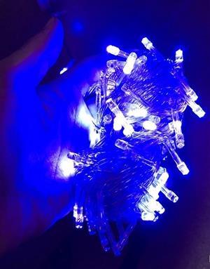 LED Decorative Fairy String Lights Waterproof 220V AC in Blue. Extendable. Brand New.