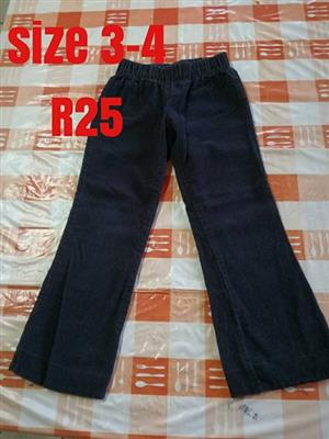 Size 3-4 black pants