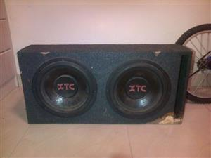 "XTC 3000watts Dual 12"" Subwoofer"