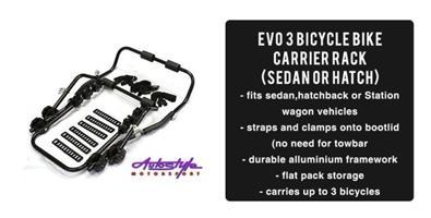 Evo Tunning 3 Bicycle Bike Carrier Rack Black Series