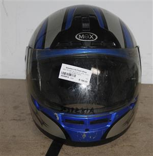 MEX HELMET BLUE AND SILVER LOTS OF SCRATCHES S039281A #Rosettenvillepawnshop