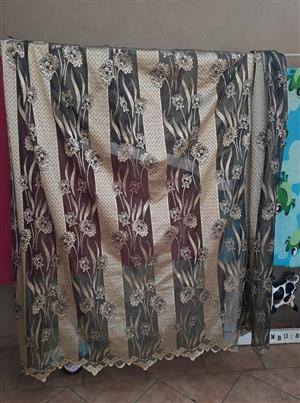 Silver flower curtains for sale