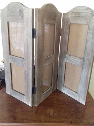 Grey wooden room divider for sale