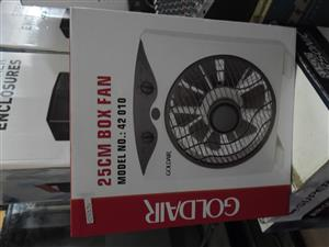 GOLDAIR 25CM BOX FAN NEW