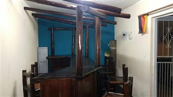 Solid Wood Bar for Sale with 5 chairs