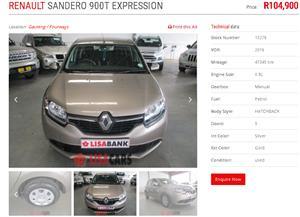 2016 Renault Sandero 66kW turbo Expression