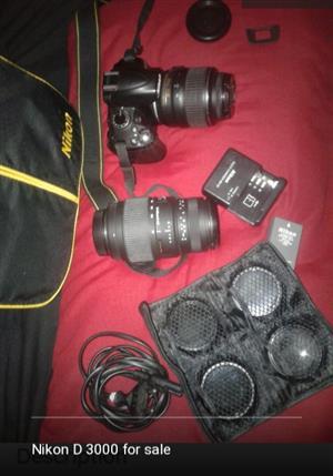 Nikon D 3000 for sale