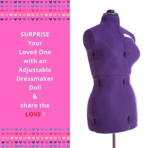 My Double Medium Purple Form - Adjustable Dressmaker Doll / Mannequin / Sewing Doll
