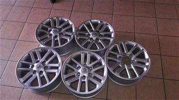 5 x DAKAR 17 inch RIMS for Toyota Hilux or Fortuna, for R6299 {5 rims}, prices include fitment