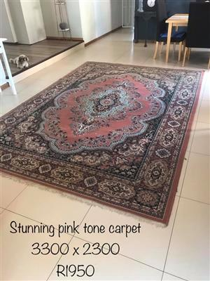 Pink tone carpet for sale