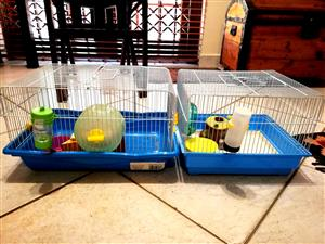 2x Hamster Cages almost new