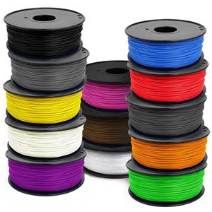 3D Printing Filament - 13 Rolls 3mm ABS Various Colours