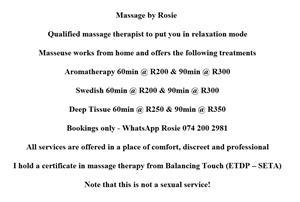 Massage by Rosie
