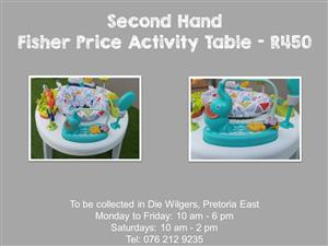 Second Hand Fisher Price Activity Table