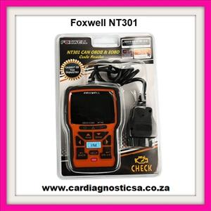 Auto scanning tool Foxwell NT301 CAN OBDII/EOBD Code Reader NOW IN STOCK for sale  Springs