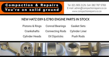 HATZ E89 & E780 Spare Parts