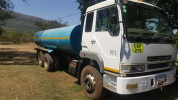 18000 liter water truck / bowser for sale. FAW 28/280. 2006 model. Work available. CASH only.