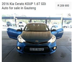 2016 Kia Cerato Koup 1.6T auto