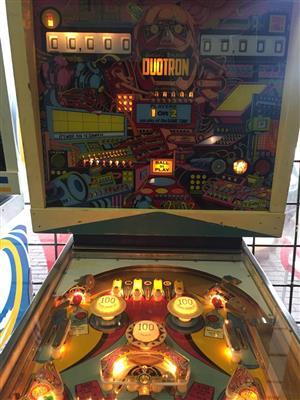 Duotron Pinball Machine by Gottlieb , 2 player