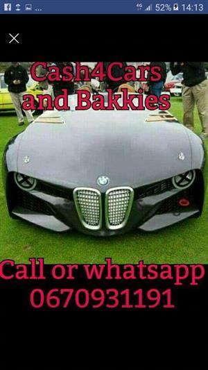 Cash for Cars Suvs Bakkies