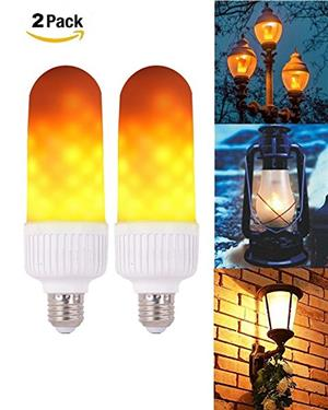 LED Light Bulbs: Flame Flicker Effect Type Twin Pack. Brand New Products.