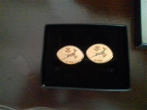 Collector SA rugby gold platted cuff lings