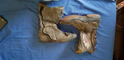 Old biker boots for sale