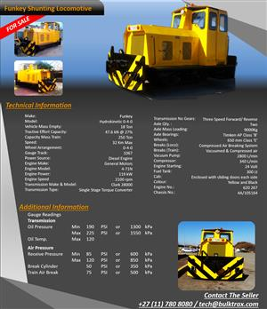 Shunting Locomotive For Sale