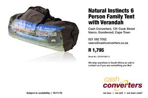Natural Instincts 6 Person Family Tent with Verandah
