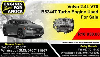 Volvo 2.4L V70 B5244T Turbo Engine Used For Sale.