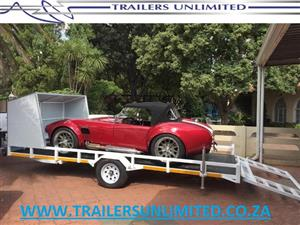 SINGLE AXLE CAR TRAILER.