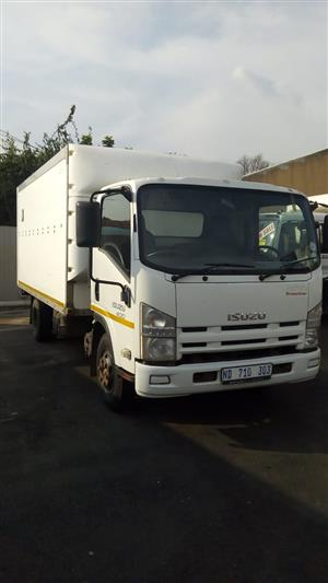 2012 Isuzu NPR400 AMT400 Closed Body Truck with Taillift