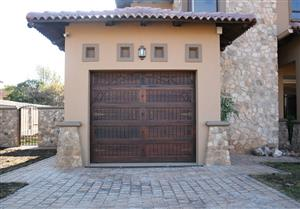 Wood garage door for sale