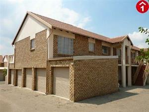 Stunning 2 bedroom upstairs townhouse for rent in Centurion with double garage available 1 April 2019