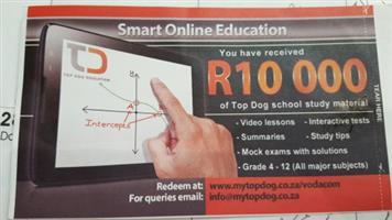 Top dog educational voucher for sale R7000 neg