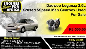 Daewoo Leganza 2.0L X20sed 5Speed Man Gearbox Used For Sale