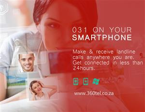 031 landline on your smartphone; Make & Receive 031 landline calls on your smartphone anywhere