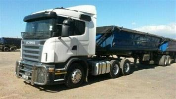 34 ton side tipper for hire