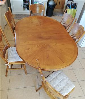 Oak Dining Table And 6 Chairs For Sale Junk Mail