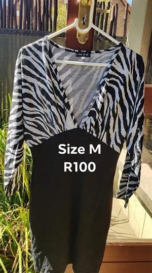 Black and zebra print maternity top