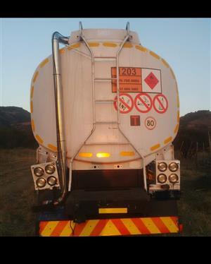 Diesel tanker for hire