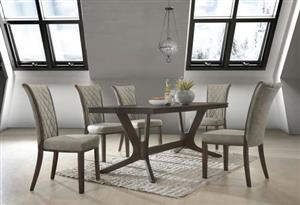 7 piece dining room set solid wood