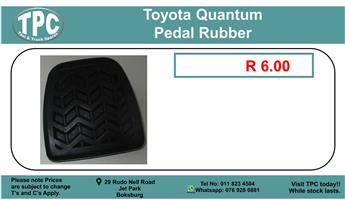 Toyota Quantum Pedal Rubber For Sale.