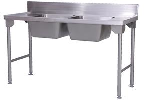 DOUBLE BOWL-PREP SINK 1600mm-DBPS16-9430